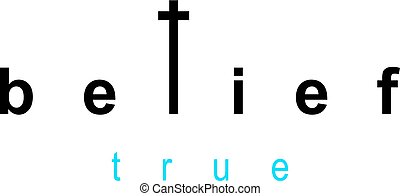 God and belief lettering logo isolated on white.