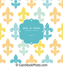 God and blue lily frame seamless pattern background