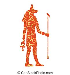 God Anubis egypt egyptian pattern silhouette ancient egypt....