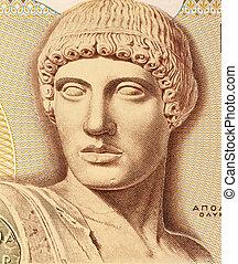 Apollo - God Apollo on 1000 Drachmes 1987 Banknote from...