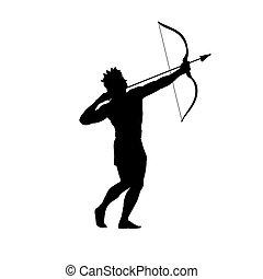 God Apollon archer silhouette ancient mythology fantasy