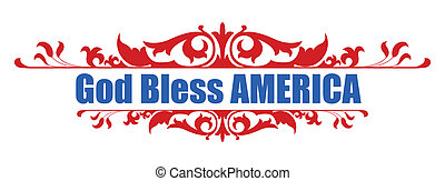 God Bless America - 4th of july Vector Illustration
