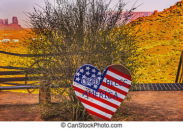 God Bless America Sign Monument Valley Utah