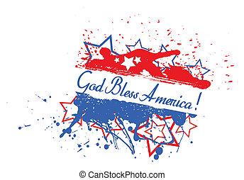 God Bless America Splash Banner
