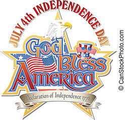God Bless America Vector - God Bless America July 4th...