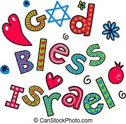 God Bless Israel Cartoon Doodle Tex