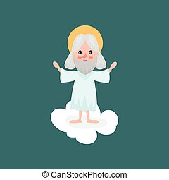 God character standing with hands up