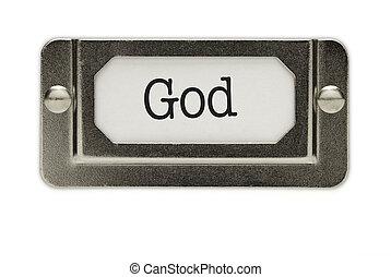 God File Drawer Label