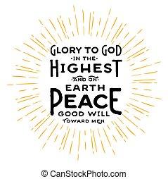 god, hoogst, glorie