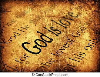 god, is, love., 1john, 4:8, heilige bijbel