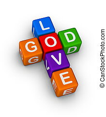 God is Love multicolor symbol