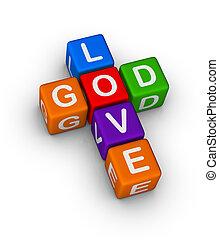 God is Love multicolor symbol