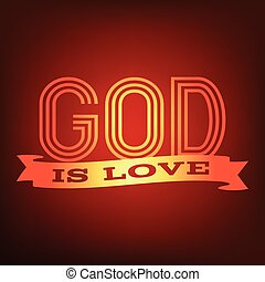 God is love typography poster