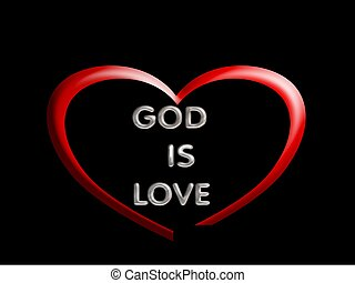 God is love with heart