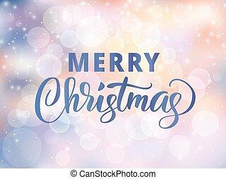 god jul, vinter, text., quote., snö, suddig, hälsningar, bakgrund, verkan, helgdag, stjärnfall