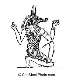 Anubis in The Netherworld - God of the dead Anubis in The...
