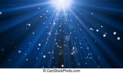 god rays, és, csillogás