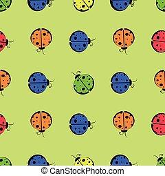 God s cow seamless pattern children s illustration