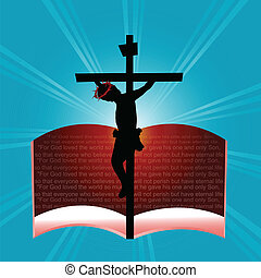 God so loved the word - John 3:16 in the Christian Bible,...