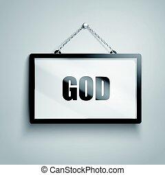 GOD text sign