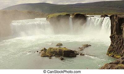 Godafoss frontal - Famous Godafoss waterfall on Iceland shot...