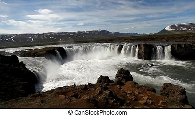 godafoss, ijsland, waterval, -