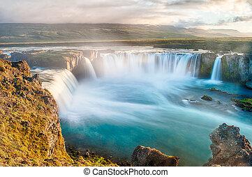 Godafoss is a very beautiful Icelandic waterfall. It is ...