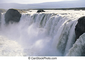 godafoss, izland, vízesés