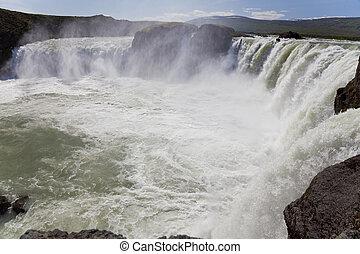 godafoss, vízesés, izland