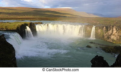 Godafoss waterfall in Iceland - Famous Icelandic waterfall...