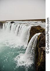 Godafoss waterfall in summer. Iceland