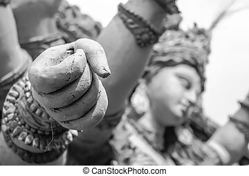 goddess durga hand fist sculptures - goddess durga hand full...
