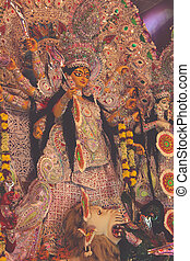 goddess durga statue - retro style