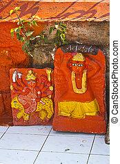 Goddess Durga - FEB 6, 2015, NASHIK, INDIA - Shrine of the...