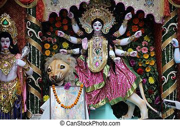 Goddess Durga is popular amongst Hindu Bengalis, and is...