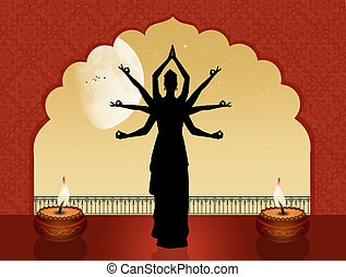 Goddess Indian dance