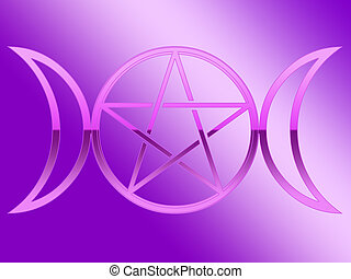 Goddess with pentacle illustration