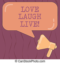 godere, concetto, amare colore, testo, risata, vuoto, tuo, umore, riflessione., positivo, scrittura, discorso, live., megafono, bolla, essere, buono, foto, affari, parola, ispirare, giorni, rettangolare, ridere
