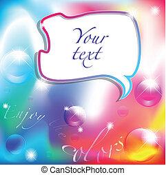 godere, il, colori, fondo, con, comico, balloon