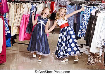 godere, ragazze, shopping