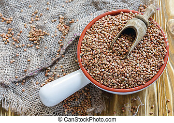 godet bois, céramique, bol, buckwheat.