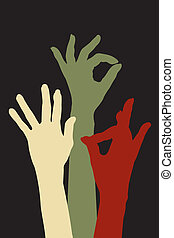 godkendelse, hænder