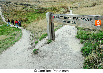Godley Head Walkway - New Zealand - CHRISTCHURCH - FEB 27:...