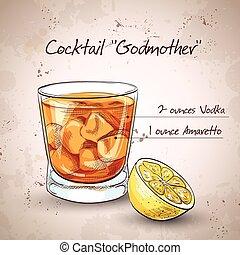 godmother, cocktail, alcoolique