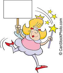 godmother, fée, dessin animé, signe
