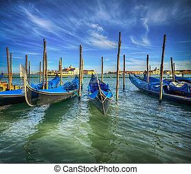 Godolas in Venice