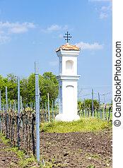 God''s torture with vineyard near Palava, Czech Republic