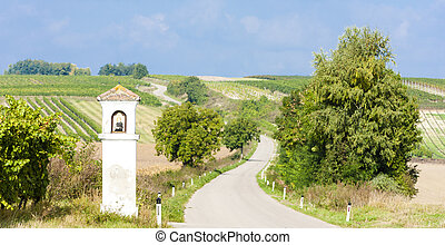 God''s torture with vineyard, Southern Moravia, Czech Republic