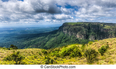 God's Window, Mpumalanga South Africa - Panoramic vista from...