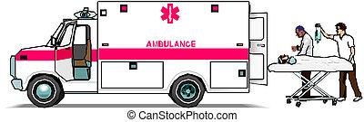 godsvognen, ambulance